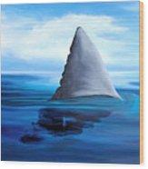 Shark Fin Wood Print