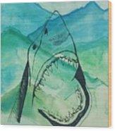Shark Mountain  Wood Print