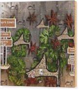 Shark Town Wood Print