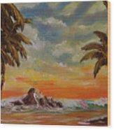 Sharks Cove North Shore Oahu #394 Wood Print