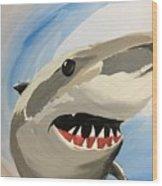 Sharky Grin Wood Print