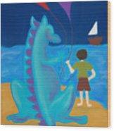 Sharlie With Kites Wood Print