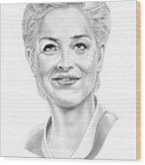 Sharon Stone Wood Print
