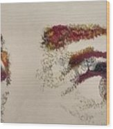 Sharon's Eyes Wood Print