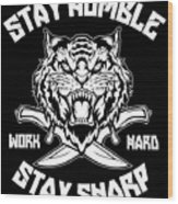 Sharp Tiger Wood Print