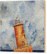 Sharps Island Lighthouse Wood Print