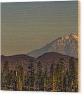 Mt Shasta From Hat Creek Wood Print