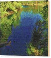 Shasta's Still Waters Wood Print