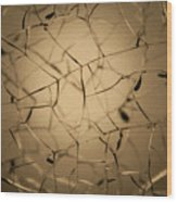 Shattered Gold Wood Print