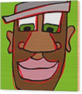 Shaun In Color Wood Print by Jera Sky