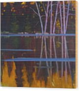 Shaw Lake Reflections Wood Print by Susan McCullough