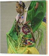 Pow Wow Shawl Dancer 3 Wood Print