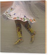 Pow Wow Shawl Dancer 8 Wood Print