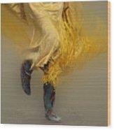 Pow Wow Shawl Dancer 9 Wood Print