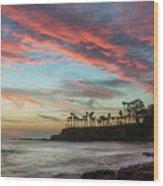 Shaws Cove Laguna Beach Wood Print