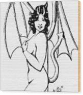 She Devil Wood Print