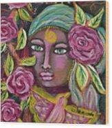 She Grows Beauty Wood Print