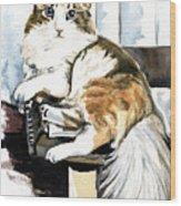 She Has Got The Look - Cat Portrait Wood Print