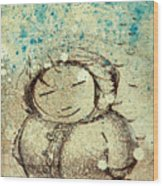 She Liked The Cold Wood Print by Konrad Geel