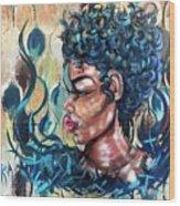 She Was A Cool Flame Wood Print
