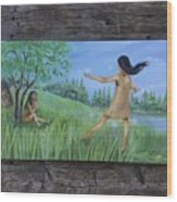 She Was A Happy Child Wood Print