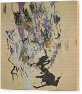 She Walks With A Purple Unicorn Wood Print