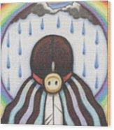 She Who Brings The Rain Wood Print