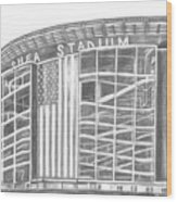 Shea Stadium Wood Print by Juliana Dube