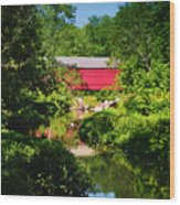 Sheards Mill Bridge - Nockamixon Pa Wood Print