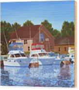 Sheboygan River Marina Wood Print