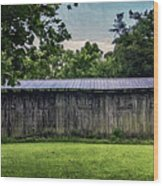 Shed At Camp Pecometh Wood Print