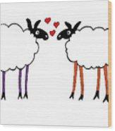 Sheep Love Wood Print