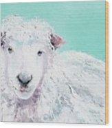 Sheep Painting - Jeremiah Wood Print