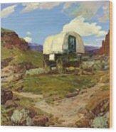 Sheep Wagon Wood Print