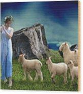 Sheep Whisperer Wood Print