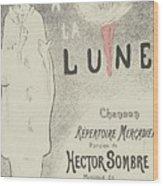 Sheet Music Aubade A La Lune Wood Print