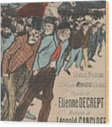 Sheet Music Le Roi Misere By Etienne Decrept And Leopold Gangloff, Performed By Mevisto Theophile Al Wood Print