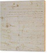 Sheet Of Studies Of Foot Soldiers And Horsemen In Combat, And Halbards Wood Print