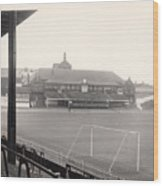 Sheffield United - Bramall Lane - Cricket Pavilion 1 - Bw - 1960s Wood Print