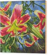 Sheherazade Lilies 1 Wood Print