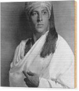 Sheik, Rudolph Valentino, 1921, Portrait Wood Print by Everett