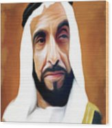 Sheikh Zayed Wood Print