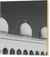 Sheikh Zayed White Mosque Wood Print
