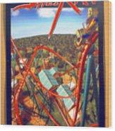 Sheikra Ride Poster 2 Wood Print