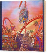 Sheikra Ride Poster 3 Wood Print