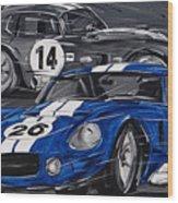 Shelby Daytona Wood Print