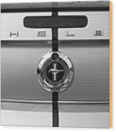 Shelby Ford Mustang Trunk Lid And Badge In Black And White Wood Print