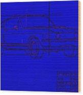 Shelby Gt Mustang Blueprint Wood Print