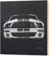 Shelby Mustang Front Wood Print