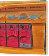 Shelby Tail Light Wood Print